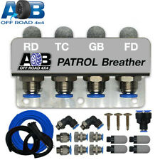 UNIVERSAL DIFF BREATHER KIT 4 PORT FOR NISSAN PATROL GU GQ Y61 Y62 BLUE