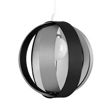 Modern Round Black  Grey Fabric Ceiling Light Pendant Lamp Shade Lampshade Home