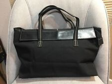 MAXX NEW YORK Tote Bag Notebook Laptop Fold Style Bag Black Leather & Nylon