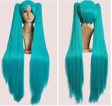 Beau miku hatsune vert perruque+2 longue tresses perruquecosplay wig+Hairnet