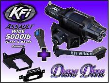 5000lb KFI Assault Wide Winch Mount Combo -- Polaris Ranger XP 1000 2018+
