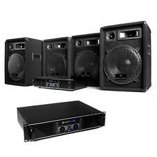 """PRO PACK DJ ACTIF COMPLET 4 ENCEINTES PA 12"""" + 2 AMPLIS + CABLES SET SONO 2400W"""