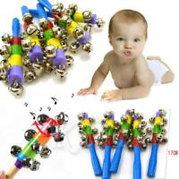 Hot Baby toy Bell Jingle Rainbow Shaker Stick Educational Music Instrument Toy