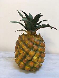 "Artificial Large Pineapple Decor Fake Fruit Realistic Life Size Foam 10"""