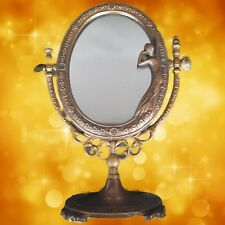 Tilt Mirror Art Nouveau Burnished Brass H.27cm Furniture Living Decoration