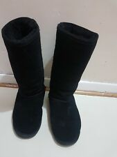 Bearpaw suede boots black Mid height size UK 5 US W7 eur 38