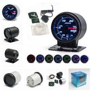 "Universal 2""/52mm 7 Color LED Car PSI Turbo Boost Gauge Meter Smoke Lens Pointer"