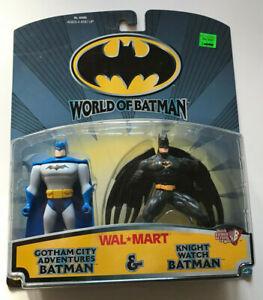WORLD OF BATMAN 2 PACK GOTHAM CITY ADVENTURES AND KNIGHT WATCH NEW HASBRO 1999