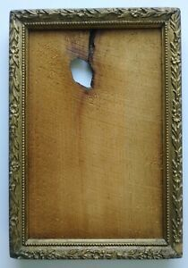19/20TH. CENTURY VICTORIAN ANTIQUE GOLD & GESSO WOOD FRAME