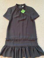 Kate Spade Ma Cherie Black Ruffle Shirt Dress - Size XS NWT $318 CAD