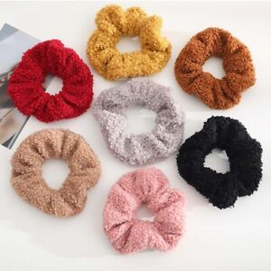 Lamb Hair Ring Ponytail Holder Plush Hair Rope Scrunchies Large Intestine Ring