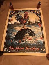 The Avett Brothers - 2016 Zeb Love poster Detroit The Fillmore 11/10