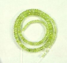 "CHRYSOBERYL faceted rondelle beads AAA 2-5.5mm 14.5"" strand"