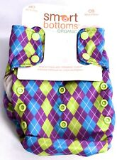"""SMART BOTTOMS Smart One 3.1 AIO Cloth Diaper (OS, Organic, """"Laughter"""" ) >NEW<"""