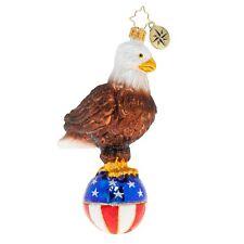 "Radko Stars And Stripes Bald Eagle 6"" Patriotic Ornament 1020537"