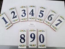 Hausnummer Keramik Nr. 0/1/2/3/4/5/6/7/8/9 ( INCA )  7,2 cm x 3 cm