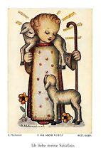 """Fleißbildchen Heiligenbild Gebetbild """" Hummel """" Holy card Ars sacra"""" H630"""""""