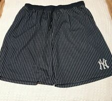 Vintage Men's Majestic Navy Blue STRIPED New York Yankees Shorts 4XL NWOT (A3)