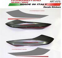 Adesivi per codino Ducati Hypermotard 939 design personalizzato Grey