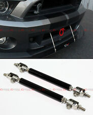 FOR MITSUBISHI EVO LANCER 7 8 9 X BLACK ADJUSTABLE FRONT BUMPER SPLITTER ROD TIE
