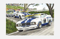 "FORD FALCON XC POSTER - BATHURST RACING SNAKE CHARMERS - 91 x 61 cm 36"" x 24"""