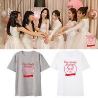 KPOP Apink T-shirt Everybody Ready Yoon Bo Mi Jung Eun Ji Tshirt Casual Tee Tops