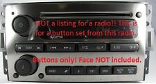 Button knob set for Hummer H3 CD MP3 radio.OEM factory original stereo parts.NEW
