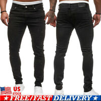 Mens Slim Fit Jeans Stretch Denim Pants Slim Skinny Casual Designer Jeans Pants