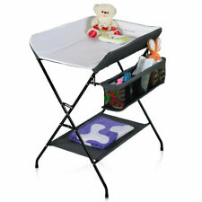 Infant Baby Changing Table Folding Diaper Station Nursery Organizer Gray