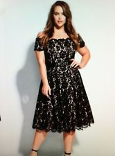 CITY CHIC BLACK LACE DREAMS FORMAL DRESS SIZE: M BNWOT RRP $179.95