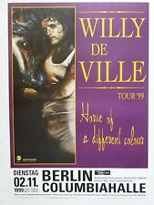 "WILLY DeVILLE ""HORSE OF A DIFFERENT COLOUR TOUR 1999"" GERMAN CONCERT TOUR POSTER"