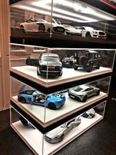 (preorder)4 Car Display Case and Led For Autoart/BBR/MR 1/18