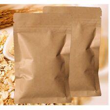100 X Aluminum Foil Lined Kraft Paper Bag Coffee Tea Food Seal Zip Lock 8cmX11cm