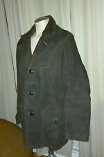 VINTAGE SEARS LEATHER SHOP NUBUCK BROWN COAT ZIP OUT FUR LINING M 38 40 WESTERN
