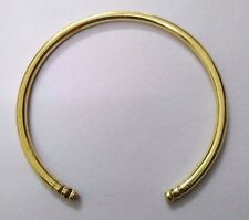 SLIM Brass Rounded Bracelet Cuff Kada Kadaa Bangle Wristlet Sikh Men Women 10