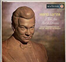 ULTRA RARE MARIO LANZA ~ IF YOU ARE BUT A DREAM ~ 1965 UK 12-TRACK MONO LP