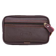 Men's Soft Leather Mobile Phone Case Belt Loops Waist Bag Hip Fanny Pack Purse