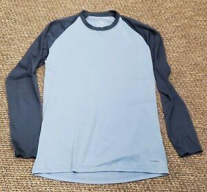 Patagonia men's Performance Base Layer Capilene Shirt Long Sleeve Blue sz M