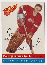 1954 TOPPS TERRY SAWCHUK DETROIT RED WINGS CARD #58 EXCELLENT CONDITION