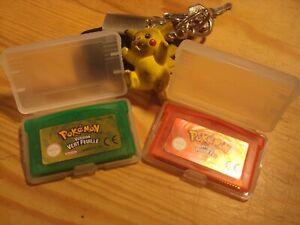 Jeux Nintendo GBA , Game boy Advance POKEMON - Version Vert Feuille et Rouge Feu