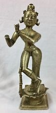 Authentic antique Indian bronze statue figure of a deity, 18th century