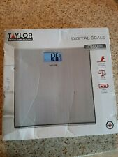 Taylor Precision Stainless Steel Digital Scale #7403 new slightly dented works