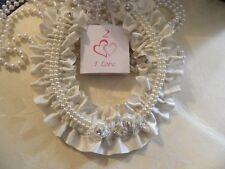 WEDDING BRIDAL HORSESHOE -IVORY SATIN  -LACE  MOTIF-BRIDAL CHARM 15cm