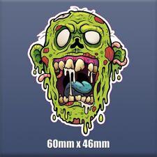 Zombie head - 60mm x 46mm - Self Adhesive Vinyl sticker S190 Halloween, ghost