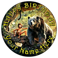 "JUNGLE BOOK MOWGLI & BALOO - 7.5"" PERSONALISED ROUND EDIBLE ICING CAKE TOPPER"