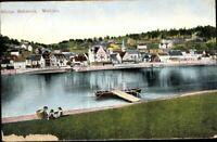 Postkarte PK AK Wehlen Sächsische Schweiz Lithographie Ortsansicht gelaufen