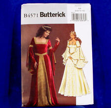 Butterick Costume 4571 Royal Renaissance Gown 6-12 NEW
