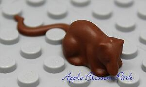 NEW Lego Minifig Animal Classic BROWN RAT - Boy Girl Minifigure Pet Mouse 1382