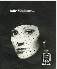 "Publicité Advertising 1976 Parfum ""Jolie madame"" Par Balmain"