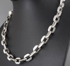 """22"""" 152g HUGE HEAVY CLASSIC BARAKA 925 STERLING SILVER MENS NECKLACE CHAIN PRE"""